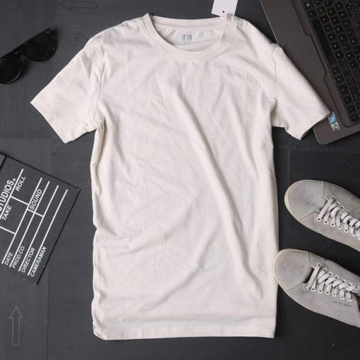 áo phông nam màu trắng cổ tròn mặc nhà đi chơi dạo phố