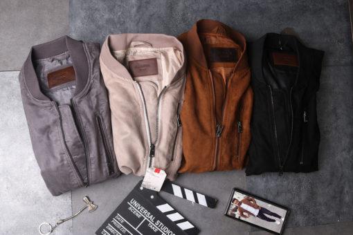 áo khoác nam da lộn bomber jacket vnxk made in vietnamn