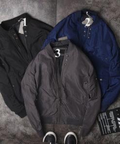 áo khoác gió bomber nam tay dài trơn màu phom đẹp chuẩn dáng hàng hiệu